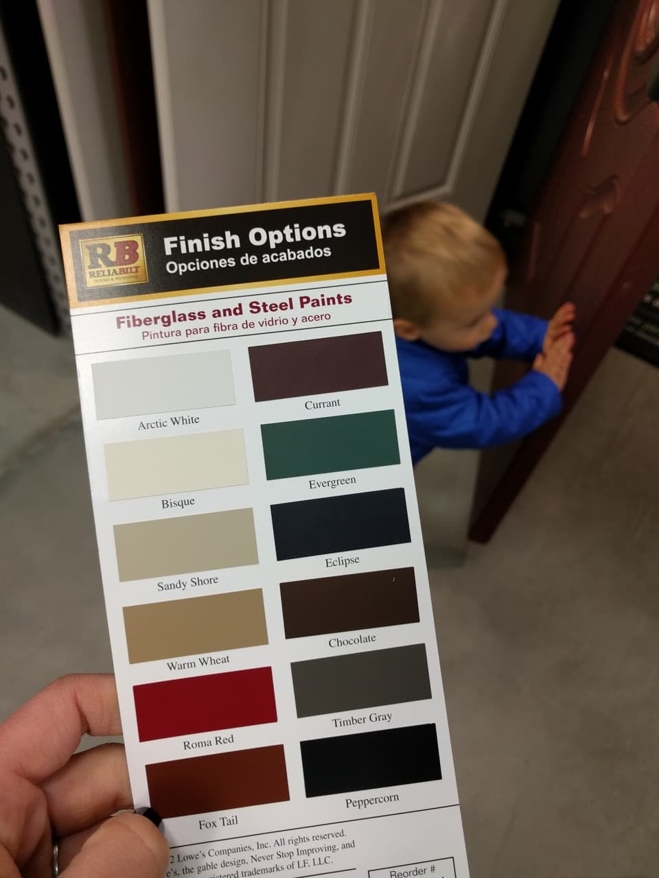 Reliabilt Color Options